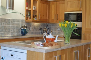 Open plan cooking with great seaviews